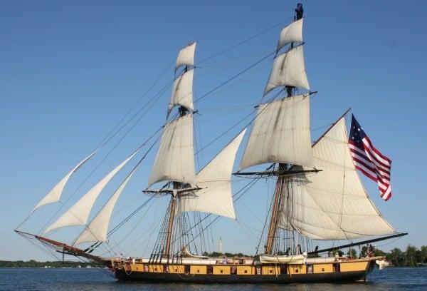 Battle of  Lake Erie Becentennial Celebration USS Niagara Tall Ships