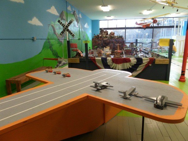 Plane/Train Room at the Little Buckeye Children's Museum
