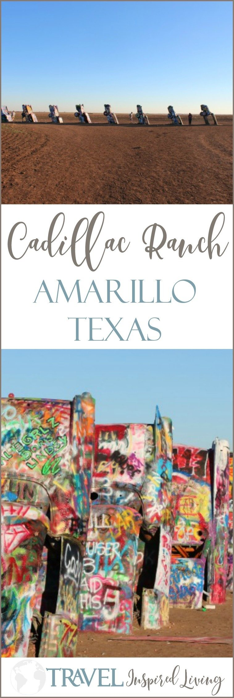 Cadillac Ranch in Amarillo Texas is a popular roadside attraction.