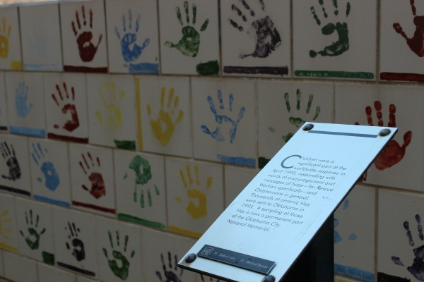 Handprints of children OKC