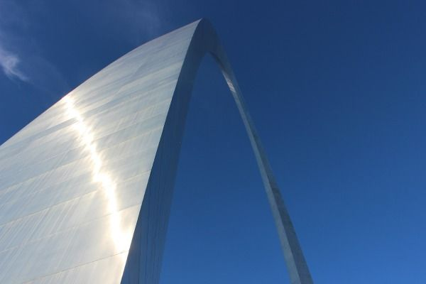 The St. Louis Arch up close