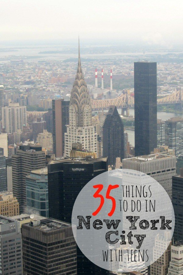 Things to do in new york city with teens for an for Things to do with kids in manhattan