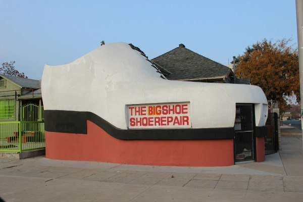 The Big Shoe Repair Shop Roadside Attraction in Bakersfield California