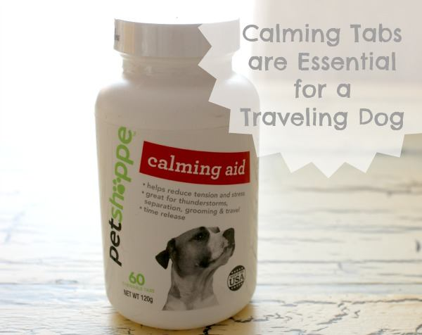 Calming tabs are essential to a traveling dog #shop