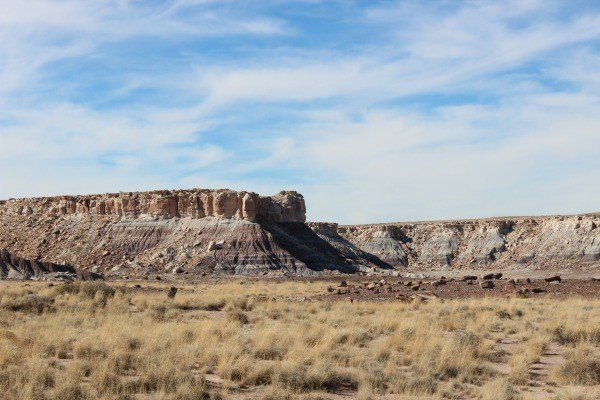 Driving through Painted Desert and Petrified Forest National Park