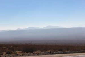 Driving towards Death Valley
