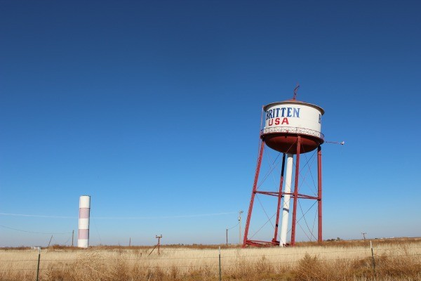 Leaning Water Tower in Groom, Texas