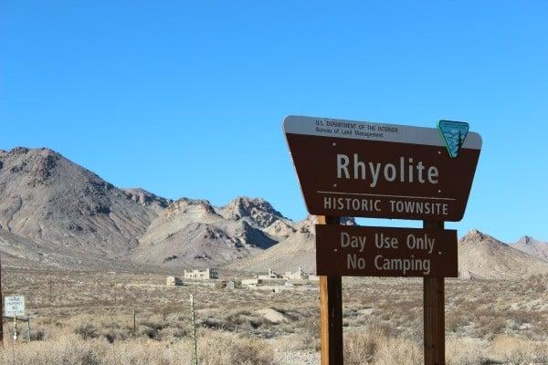 Rhyolite in Death Valley