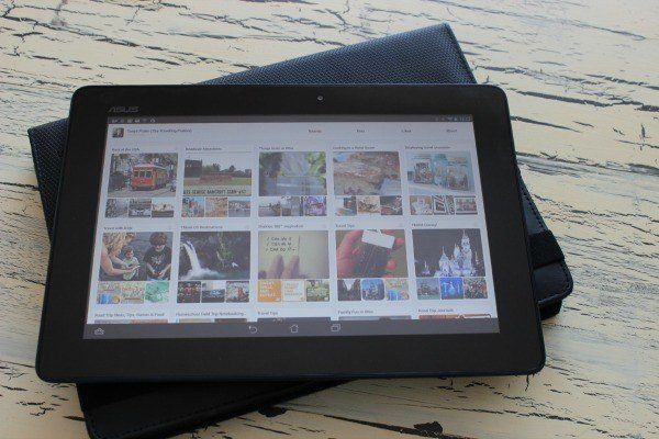 Using the Asus ME302c Tablet to browse social media. #shop