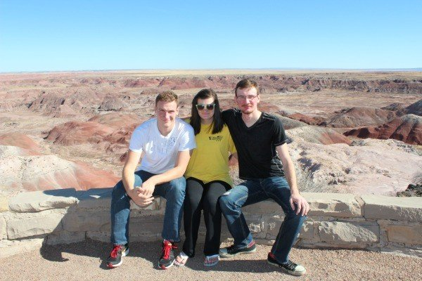 Stopping at the Painted Desert National Park on our road trip to California