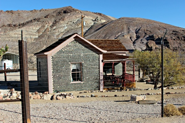 Glass Bottle House Roadside Attraction in Death Valley National Park