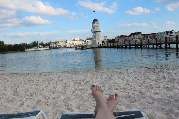Lounging on the Beach at Disney's Beach Club Resort
