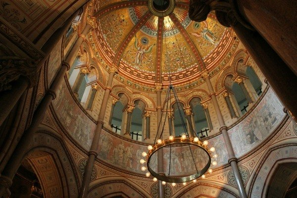 Dome Ceiling of Garfield Memorial in Lake View Cemetery in Cleveland