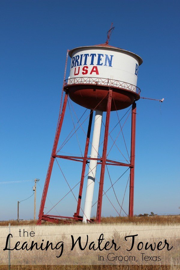 Leaning Water Tower along Route 66 in Groom Texas