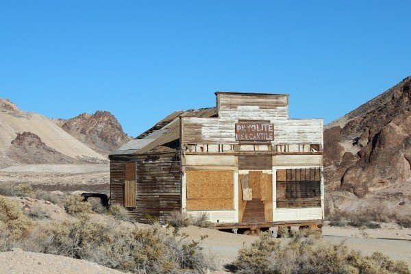 Mercantile in Rhyolite Ghost Town in Death Valley National Park