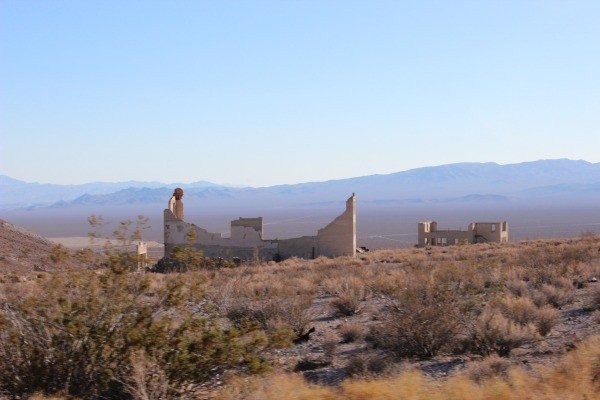 remains of the ghost town
