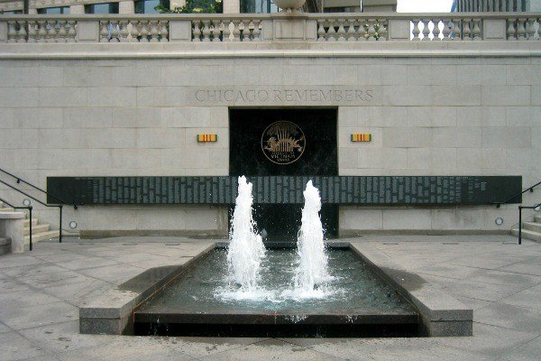 vietnam-war-memorial in Chicago