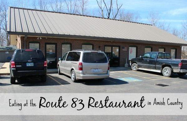 Eating in the Route 83 Restaurant in Ohio's Amish Country