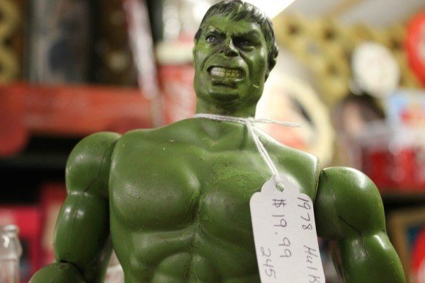 Family Friendly Bowling Green, Kentucky attractions --The Hulk toy at Vette City Antiques