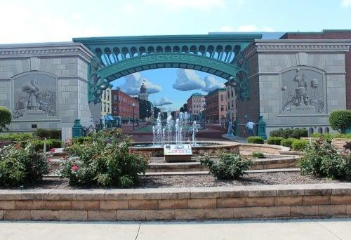 Great American Crossroad mural in Bucyrus, Ohio