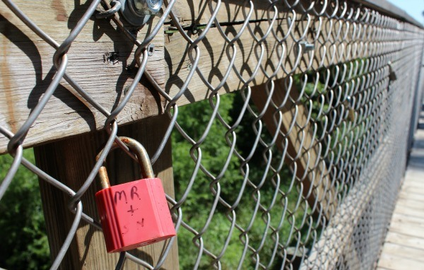 Friendship Suspension Bridge in Aumiller Park in Bucyrus Ohio