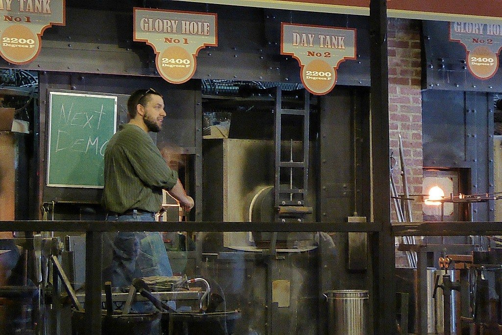 Glass blowing demonstrations at Silver Dollar City.