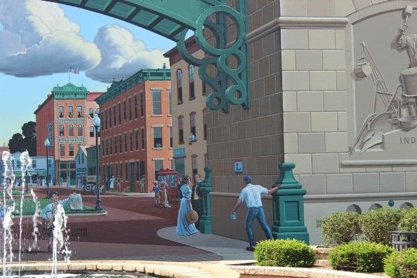 Great American Crossroads mural in Bucyrus Ohio