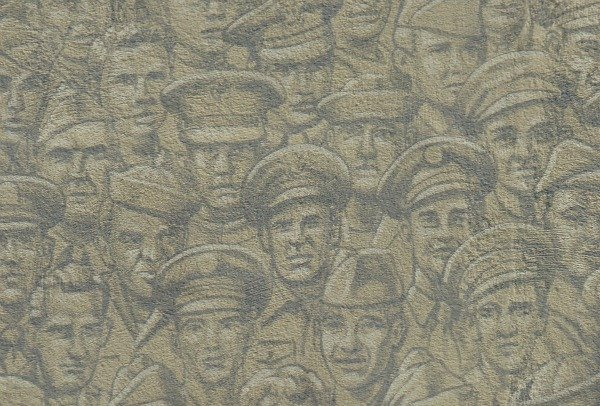 Soldiers portraits in Lady Remembers mural in Bucyrus, Ohio