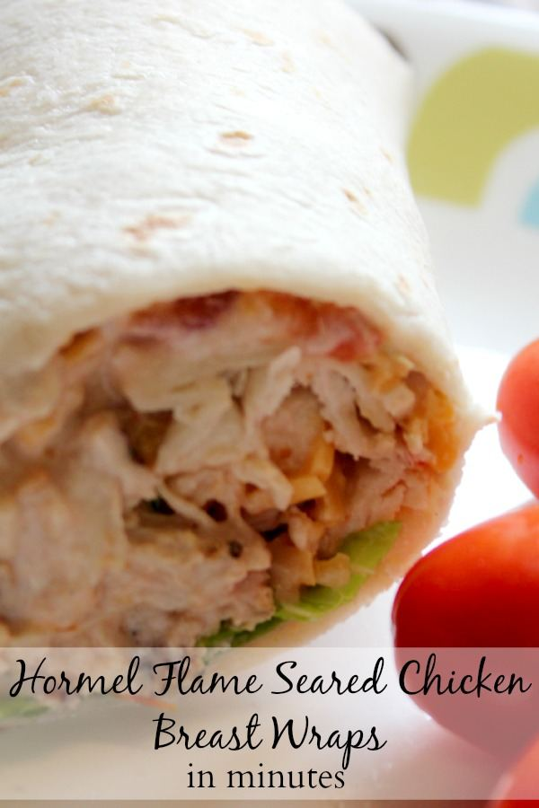Hormel Flame Seared Chicken Breast Wraps in Minutes with Hormel Everyday Scratch Meats