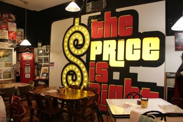 The Price is Right Sign at the Lava Rock Grill in Coshocton, Ohio