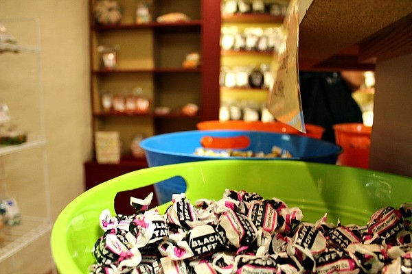 A childhood favorite, Black Taffy, found at Roscoe Village Sweets & Treats in Historic Roscoe Village