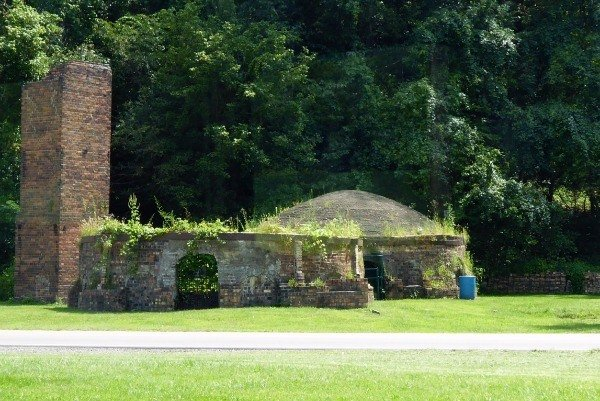 Brick kilns just outside Nelsonville as seen from the Hocking Valley Scenic Railway
