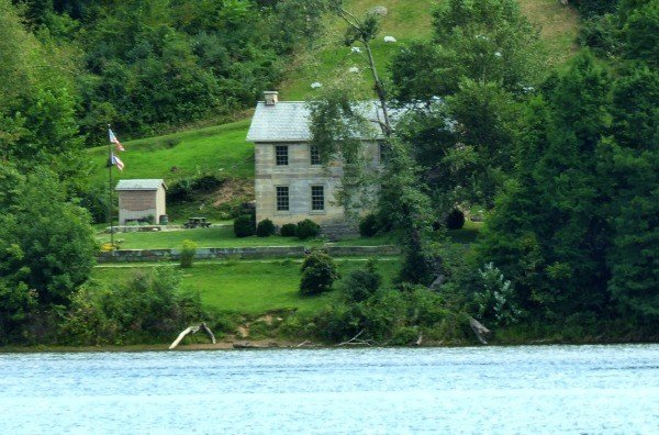 The Stone House Museum as seen from the Lake at Salt Fork State Park