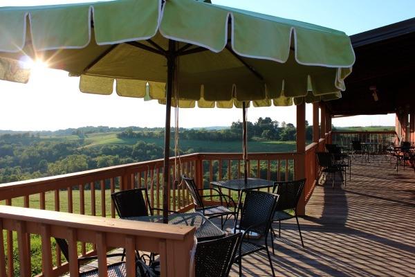 The back deck at Terra Cotta Vineyard near Cambridge, Ohio