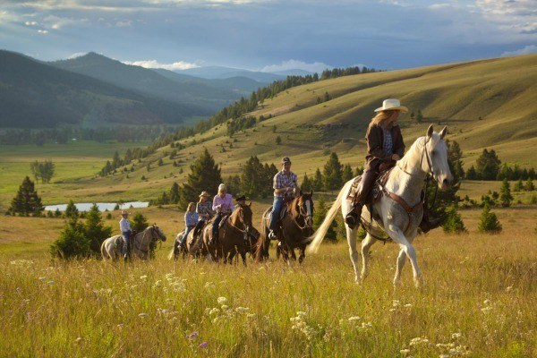 montana-horseback-riders at the Ranch at Rock Creek