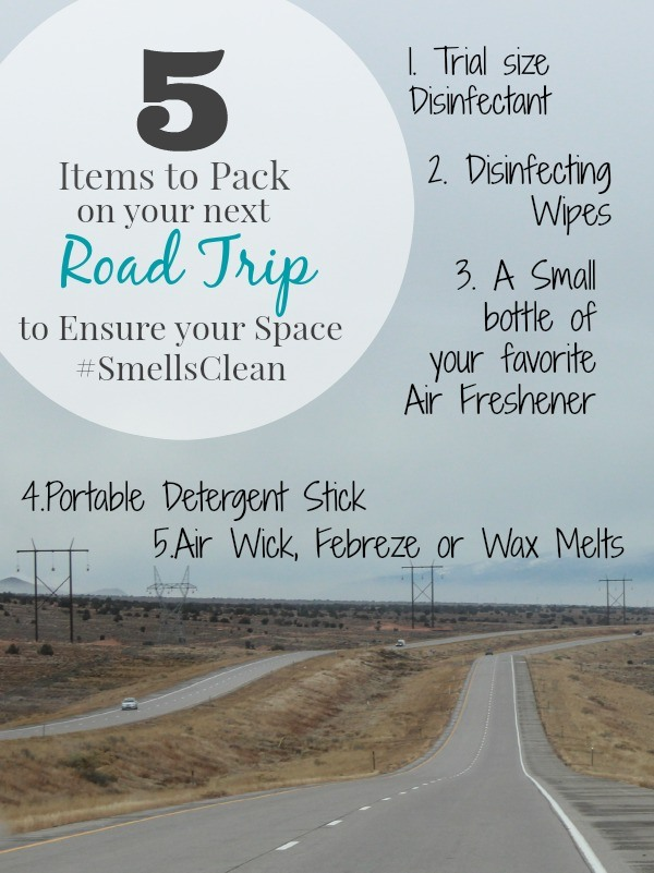 5 Items to pack on your next road trip to ensure your space #SmellsClean