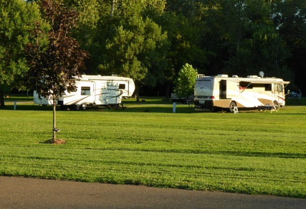 Campground at Lake Park Recreational Complex in Coshocton