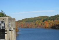 Fall Foliage at the Pleasant Hill Dam in North Central Ohio near Mohican State Park and Forest