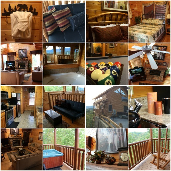 Inside the Bella Yani Cabin- Cabin Fever Vacations
