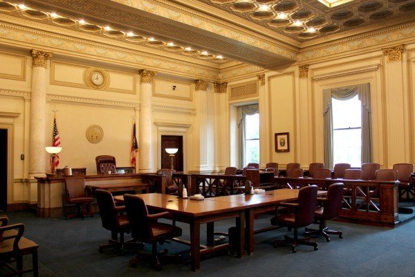 Inside the courtroom at the Clinton County Courthouse in Wilmington Ohio