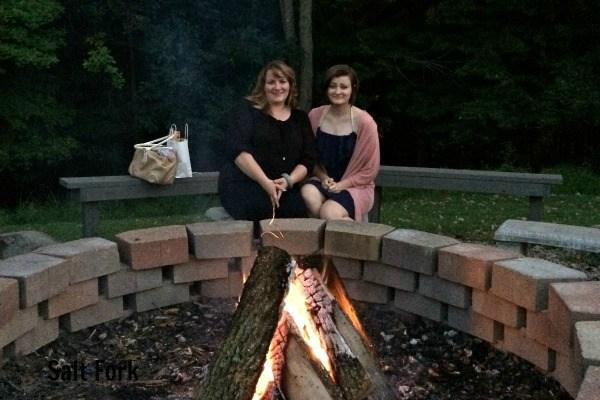 Ohio State Park Lodges- Salt Fork campfire
