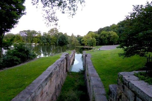 React Memorial Park in Coshocton County, Ohio showcase three restored locks