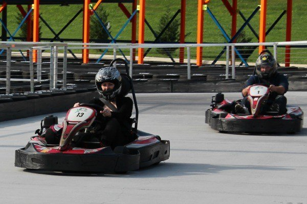 Riding the track at XTreme Racing Center in Pigeon Forge #MBSmokies