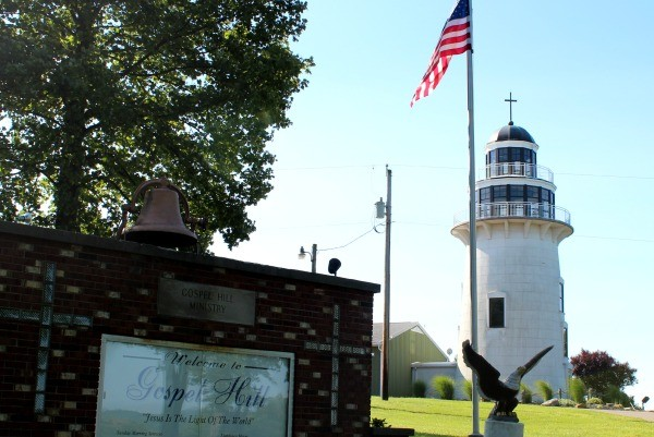 The Gospel Hill Lighthouse in Coshocton County Ohio
