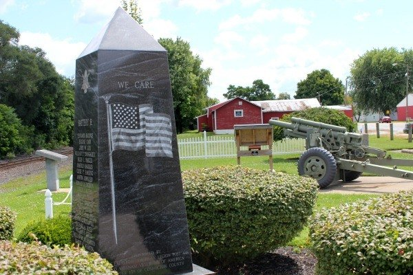The Troop Train Memorial in West Lafayette- the site of a devastating train disaster
