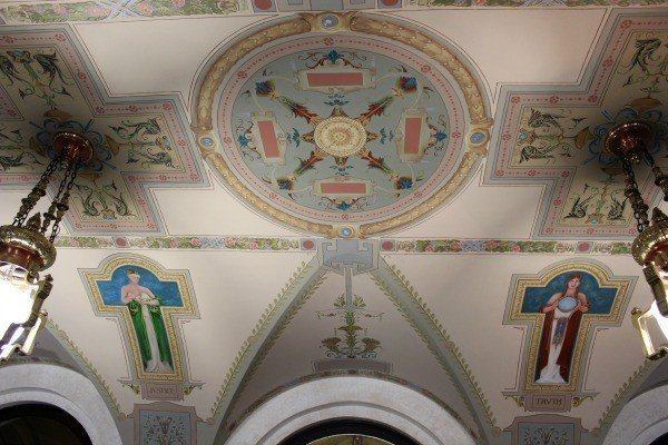 The ceiling inside the Clinton County Courthouse in Wilmington Ohio