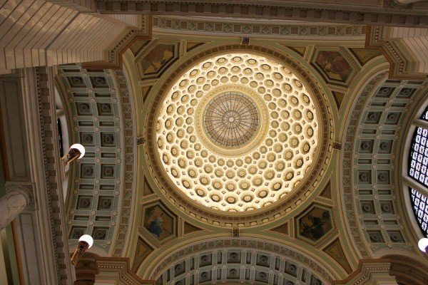 The dome of the Clinton County Courthouse