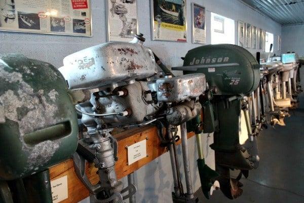 Antique Motors seen at the Maritime Museum of Sandusky