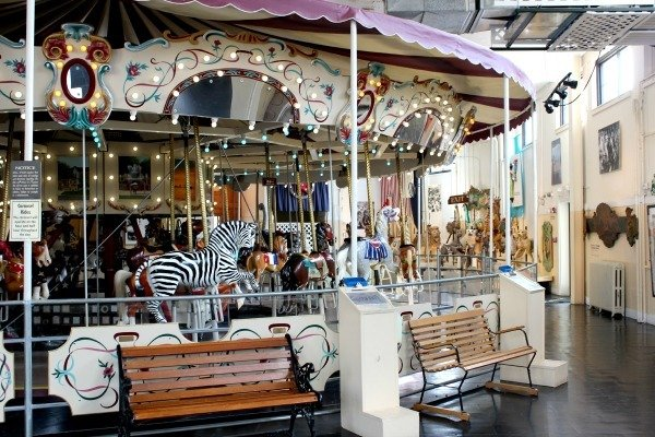 The 1939 Allan Herschell carousel is housed inside the Merry-Go-Round Museum in Sandusky, Ohio