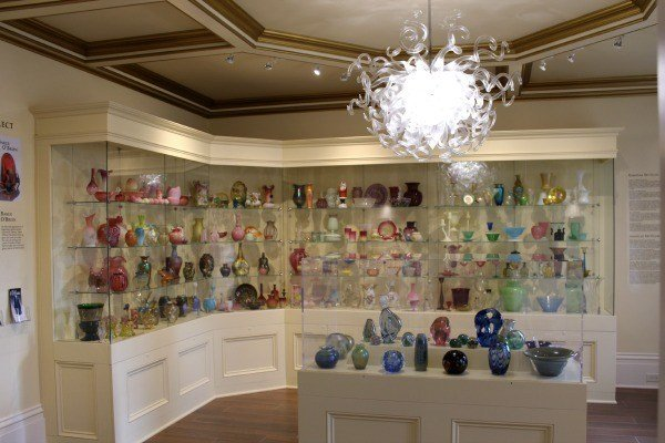 The Art Glass Gallery at the Milan Museum near Sandusky Ohio